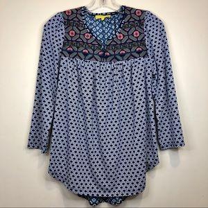 EZRA 🏵 Sz. S multiprint high-low blouse